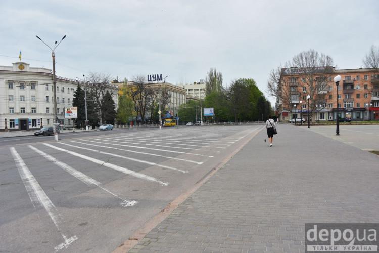 Херсон пустые улицы